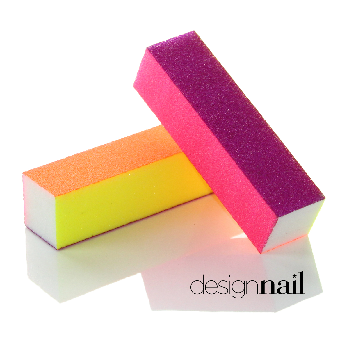 Neon 4 Sided Sanding Block by Design Nail