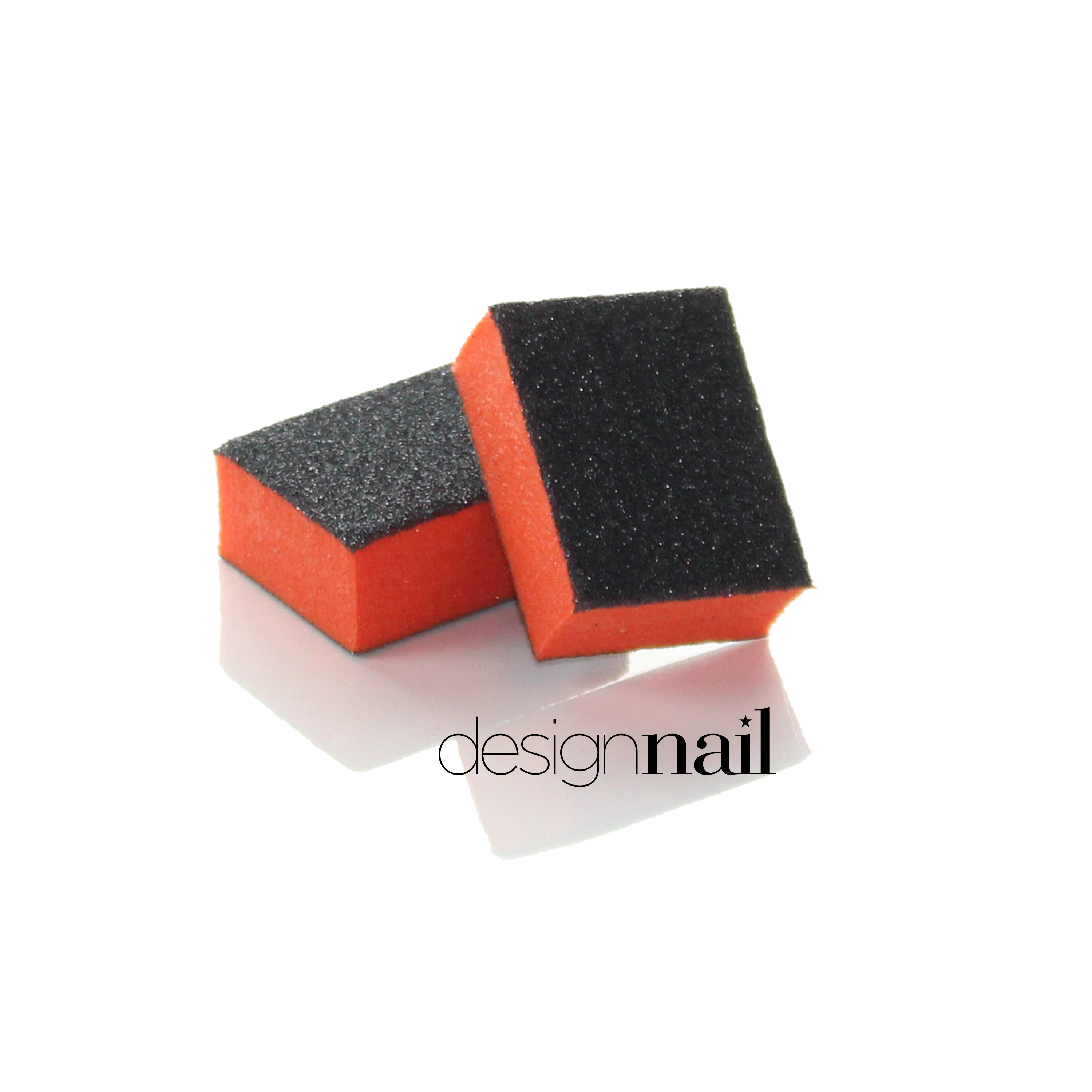 Orange and Black Mini 2 Sided Sanding Block by Design Nail